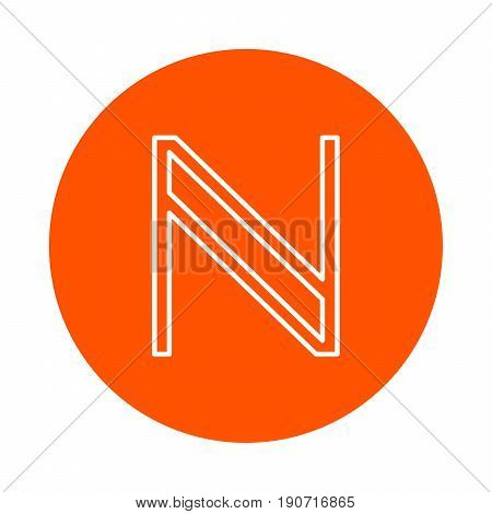 Symbol of digital crypto currency Namecoin vector monochrome round icon.