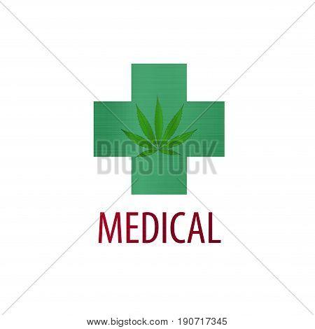 green medical health cannabis herb illustration weed