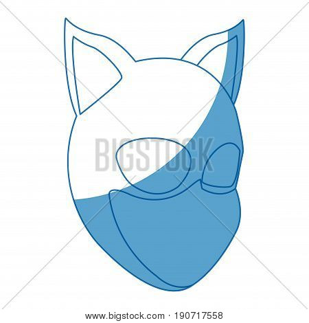 woman in cat costume with mask ears halloween party vector illustration