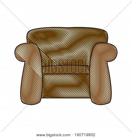 couch seat armchair comfort furniture image vector illustration