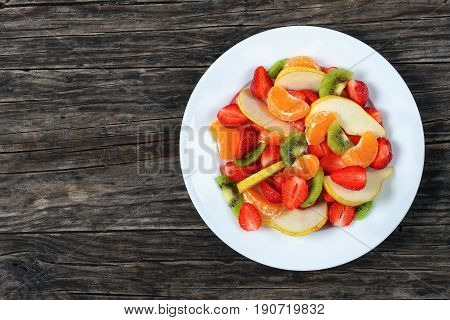 Salad Of Strawberry, Kiwi Fruit And Pear