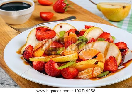 Strawberry, Kiwi Fruit And Pear Salad