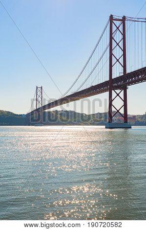The 25 de Abril Bridge (Ponte 25 de Abril) is a suspension bridge in Lisbon in Portugal