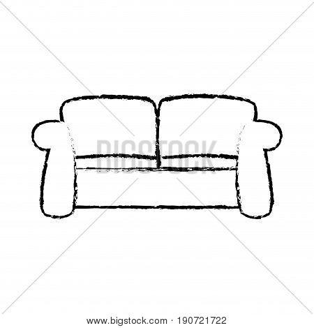 sketch sofa furniture comfort relax image vector illustration