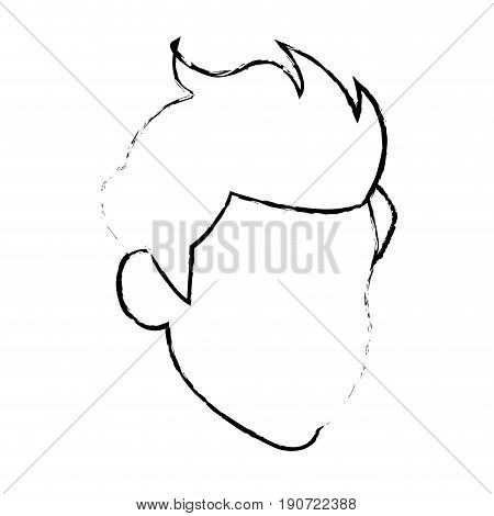 head default man male character image vector illustration
