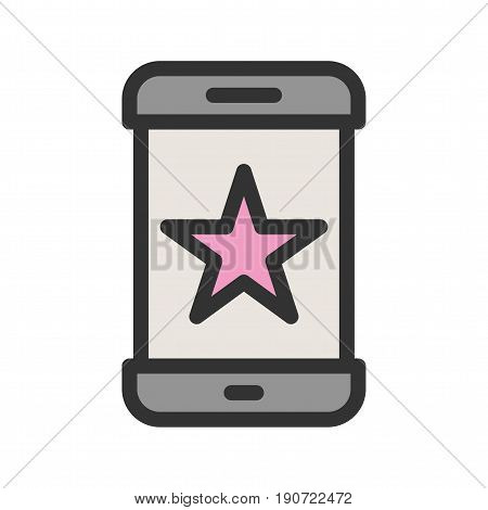 Favorite, starred, star icon vector image. Can also be used for smartphone. Suitable for mobile apps, web apps and print media.