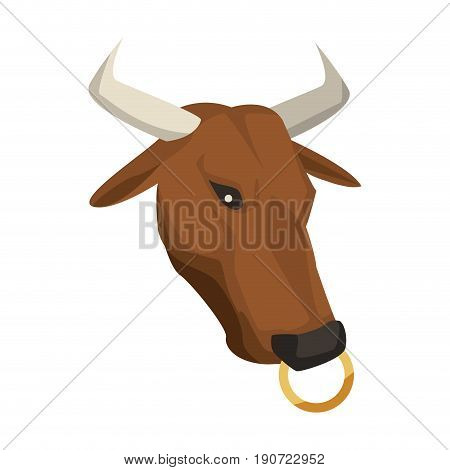 minotaur greek mythological creature horns mystic vector illustration