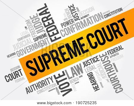 Supreme Court Word Cloud Collage, Social Concept Background