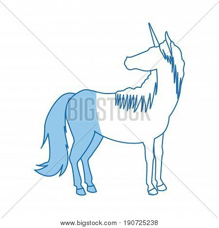 unicorn legendary mythical creature icon vector illustration