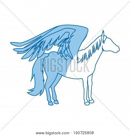 legendary winged horse from greek mythology pegasus vector illustration