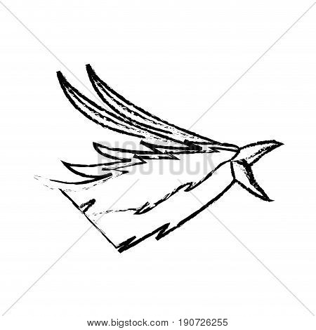 phoenix head bird mythological magic image vector illustration