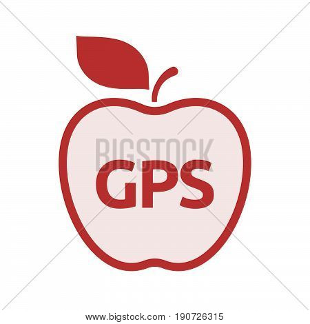 Isolated Apple With  The Global Positioning System Acronym Gps