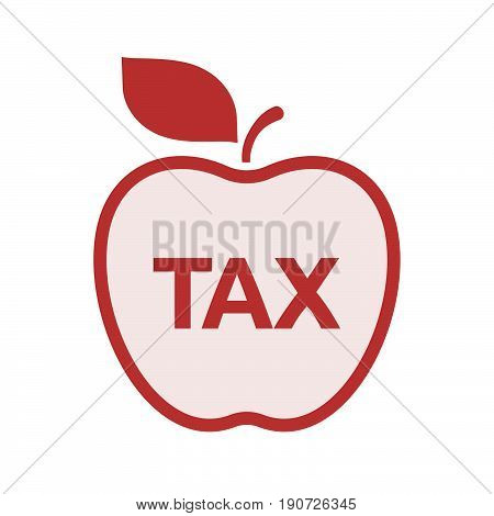 Isolated Apple With  The Text Tax