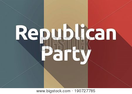 Long Shadow France Flag With  The Text  Republican  Party