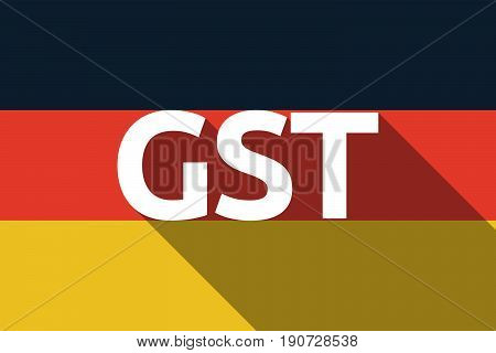 Long Shadow Germany Flag With  The Goods And Service Tax Acronym Gst