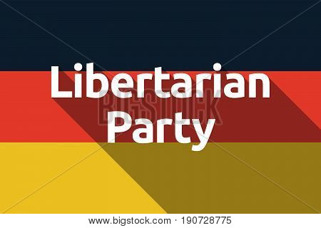 Long Shadow Germany Flag With  The Text Libertarian Party
