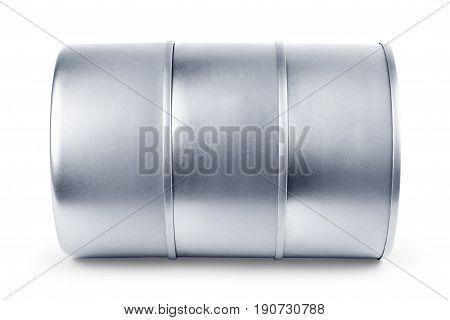 White Blank Tincan Metal Tin Can Canned Food.