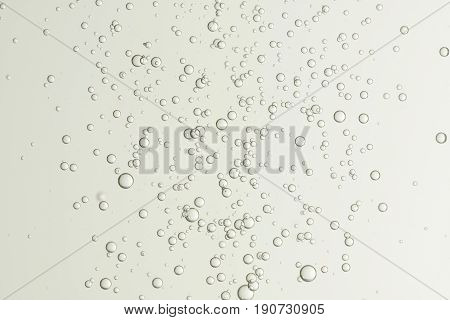 Beautiful champagne fizz bubbles soars over a blurred background.