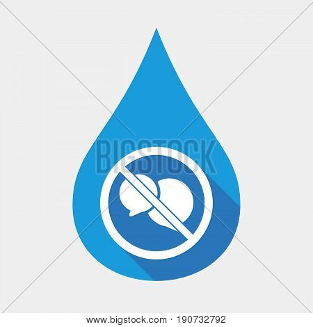 Isolated Water Drop With  Two Comic Balloons  In A Not Allowed Signal