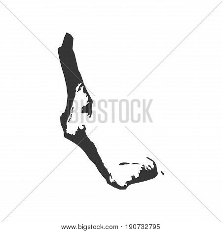 Cocos Islands map silhouette illustration on the white background. Vector illustration