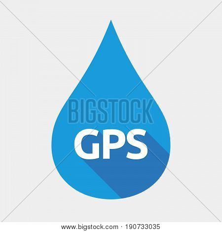 Isolated Water Drop With  The Global Positioning System Acronym Gps