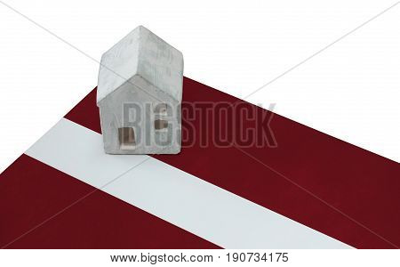 Small House On A Flag - Latvia