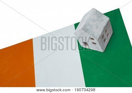 Small House On A Flag - Ivory Coast