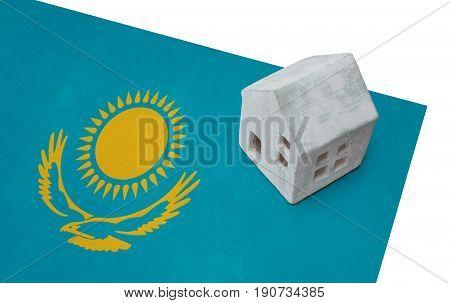 Small House On A Flag - Kazakhstan