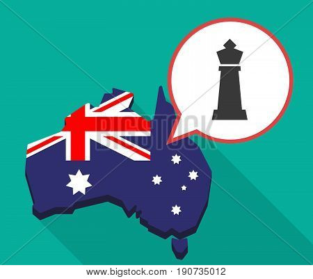 Long Shadow Australia Map With A  King   Chess Figure