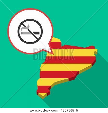 Long Shadow Catalonia Map With  A No Smoking Sign