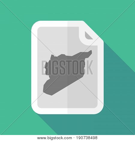 Long Shadow Document With  The Map Of Syria