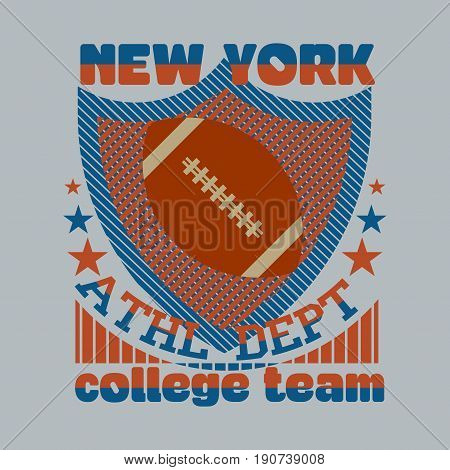 t-shirt New York sport Typography college sports t-shirt graphics Vintage Print for sportswear apparel - vector illustration