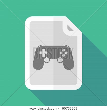 Long Shadow Document With  A Game Pad