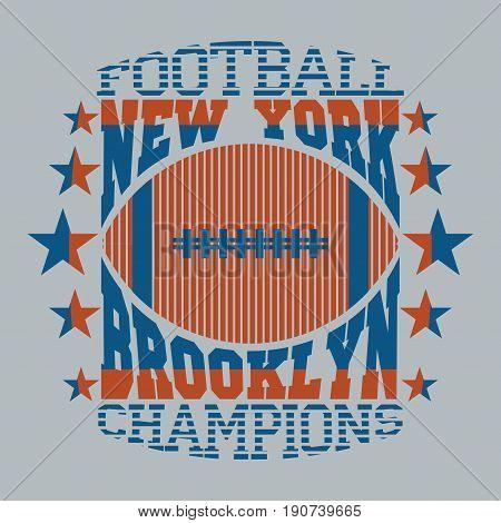t-shirt New York sport Typography, brooklyn sports, t-shirt graphics, Vintage Print for sportswear apparel - vector illustration