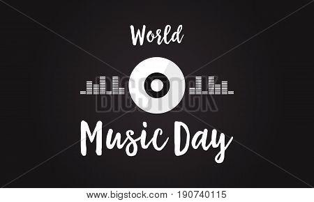 Celebration of world music day background vector art