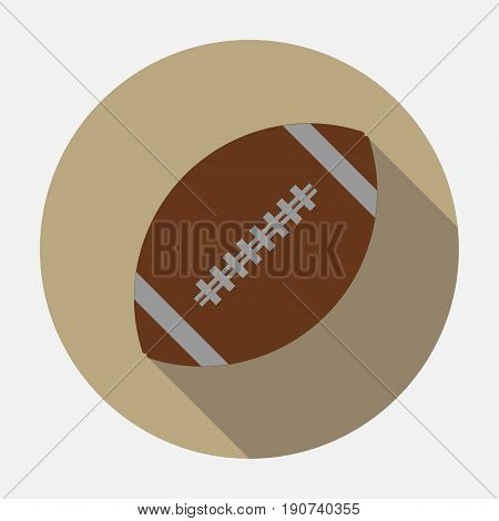 Icon ball game of American football, the game of rugby, logo, an American sport,  flet design sport for real Mister, fully editable vector image