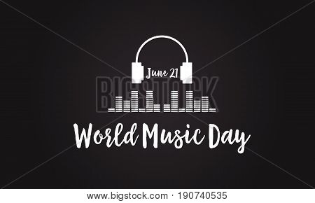 Celebration world music day vector flat collection