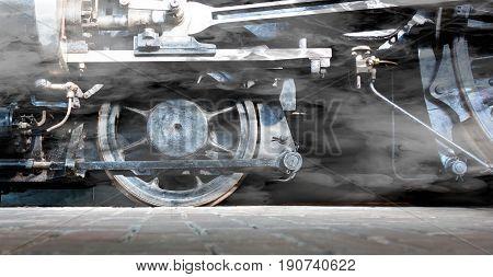 Steam Locomotive Wheels Or Steam Train Wheels