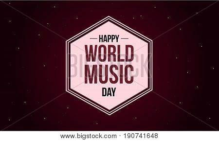 World music day style background collection vector art