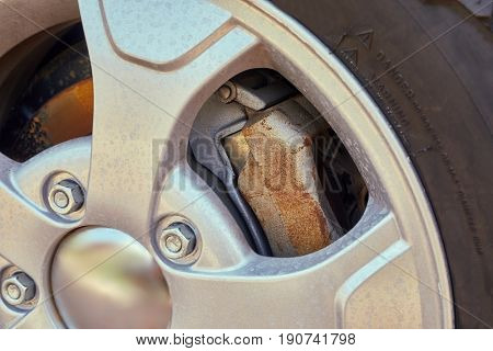 Wheel of a hobby offroad vehicle, brake calipers