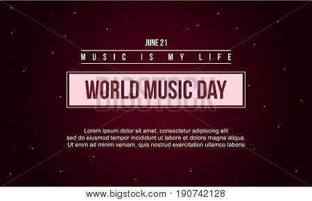 World music day celebration vector art illustration collection