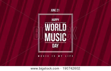 Style banner world music day celebration vector art