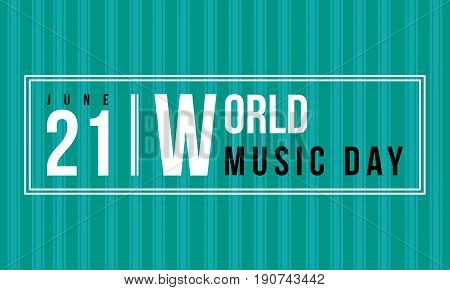 Background of world music day collection vector art