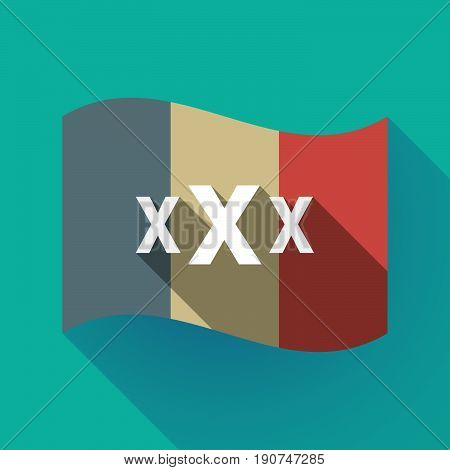 Long Shadow France Flag With  A Xxx Letter Icon