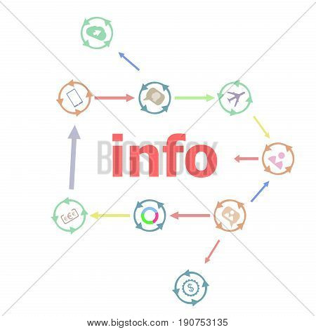 Text Info. Information Concept . Linear Flat Business Buttons. Marketing Promotion Concept. Win, Ach