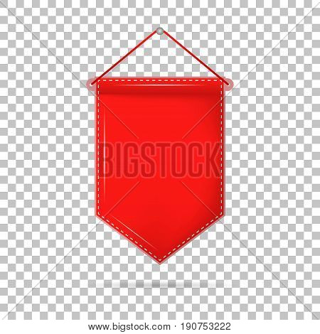 Pennant Hanging, On A Isolated Background. Vector Illustration