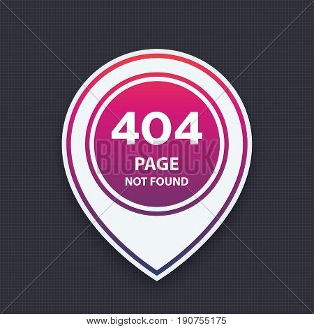 404 page not found, vector illustration, eps 10 file, easy to edit