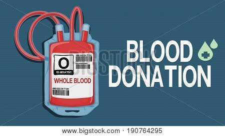 Blood donation wording with isolated blood pouch