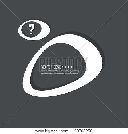 Question mark icon. Help symbol. FAQ sign on background. vector. Modern popular banner in the trend. Black color.