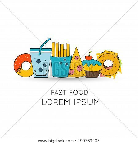 Modern obesity logo and pictogram. Concept of fast food and unhealthy lifestile with elements for mobile concepts and web apps.
